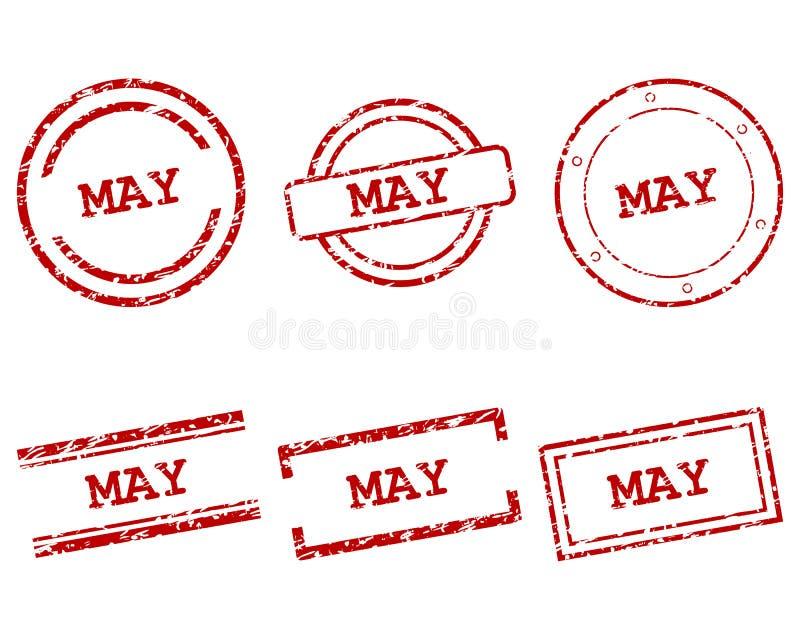Mai-Stempel stock abbildung