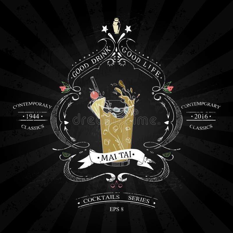 MAI tai in bianco e nero royalty illustrazione gratis