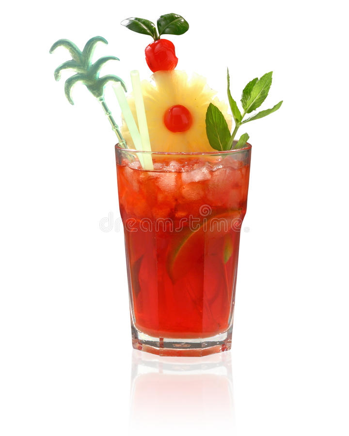 Mai-tai Cocktail Royalty Free Stock Images