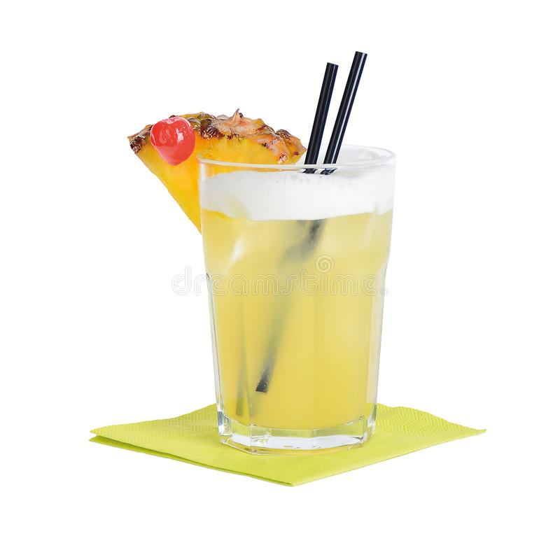 Mai Tai Cocktail. Mai Tai, an alcoholic cocktail based on rum, orange liqueur, and lime juice royalty free stock images