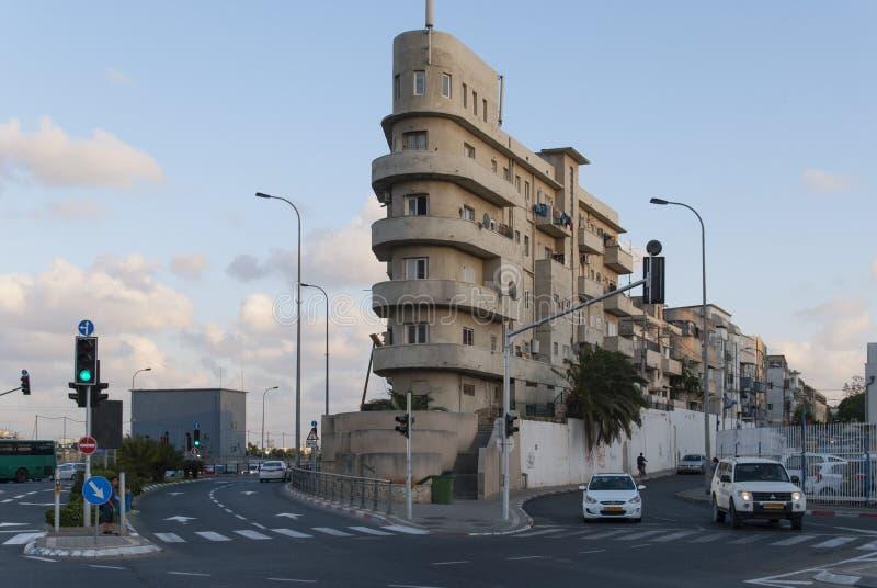 23 mai 2017 Tel Aviv Bâtiment de style de Bauhaus l'israel photos libres de droits