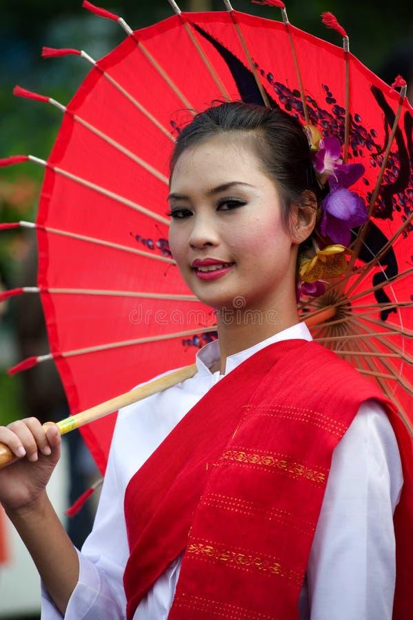 mai thailand för chiangfestivalblomma arkivbild