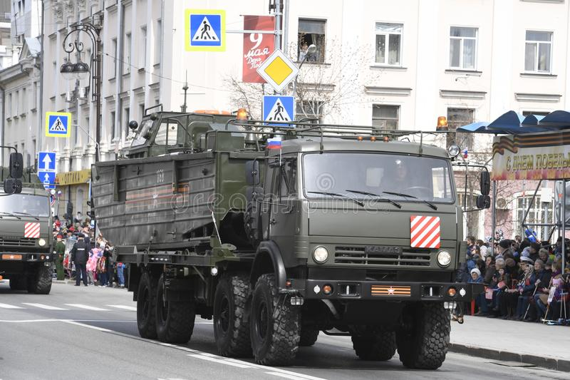 9 mai 2018 Tyumen image stock