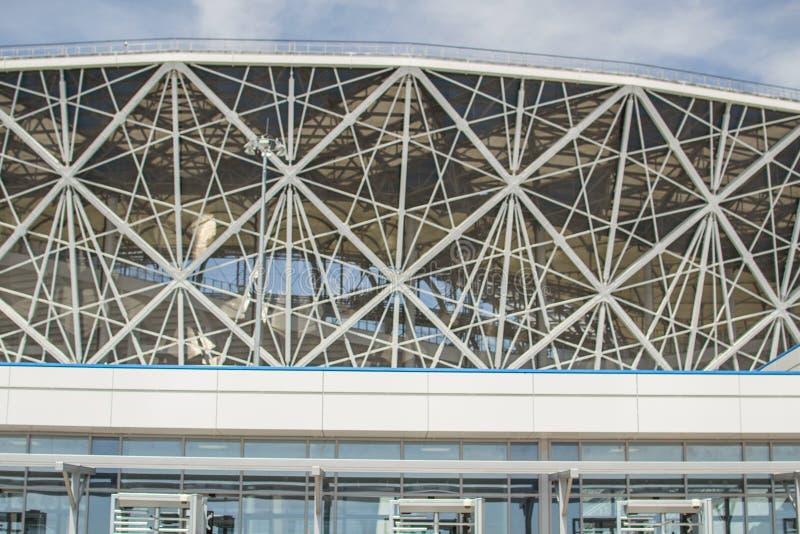 23. Mai 2018 Wolgograd, Russland Neue Fußballstadion Wolgograd-Arena stockbilder