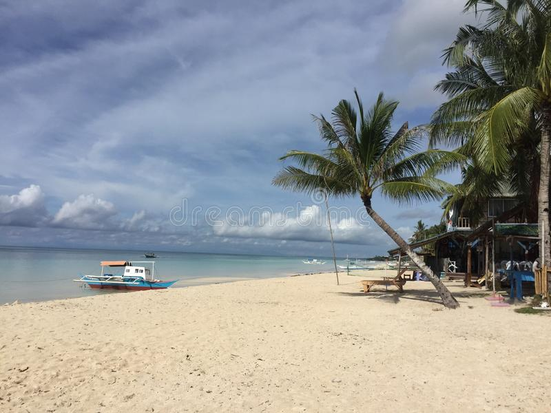 Maia Beach en la isla Filipinas de Bantayan fotos de archivo