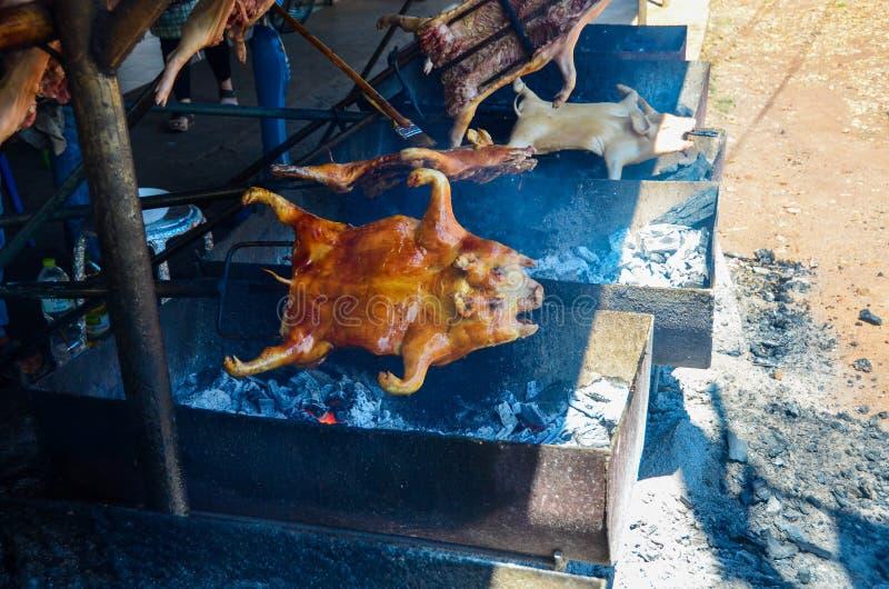 Maiale di lattante arrostito col barbecue immagini stock libere da diritti