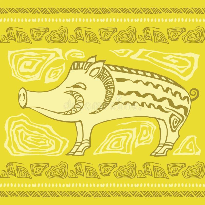 Maiale ornamentale animale illustrazione di stock