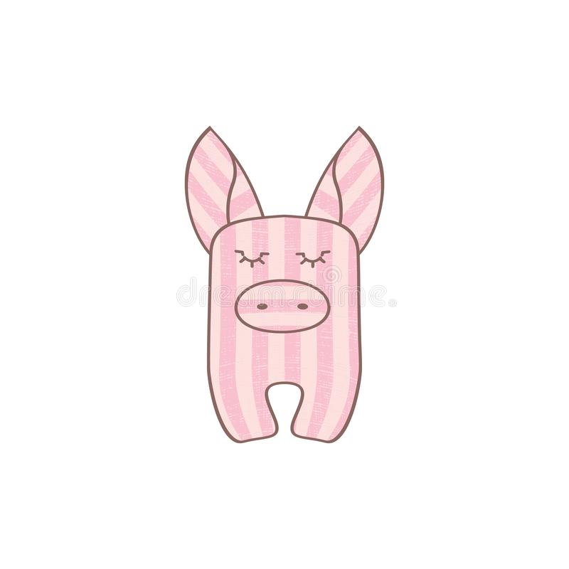 Maiale a strisce rosa royalty illustrazione gratis
