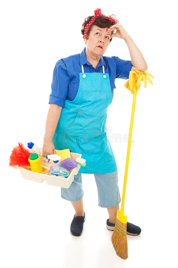 Maid Hates Her Job royalty free stock images