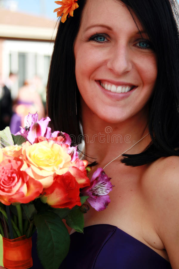 Download Maid of Honor stock image. Image of blue, happy, gorgeous - 11003137