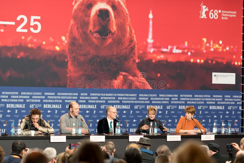 ` Maid ` Pressekonferenz während des 68. Berlinale-Film-Festivals stockfotografie