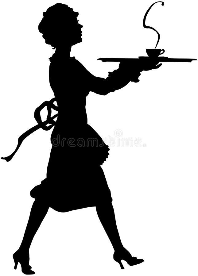Maid Silhouette stock ...
