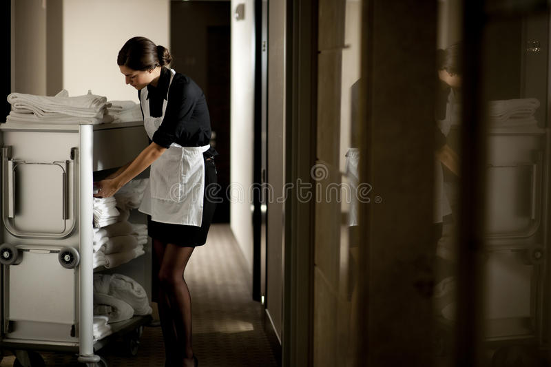 Maid At Work royalty free stock photos