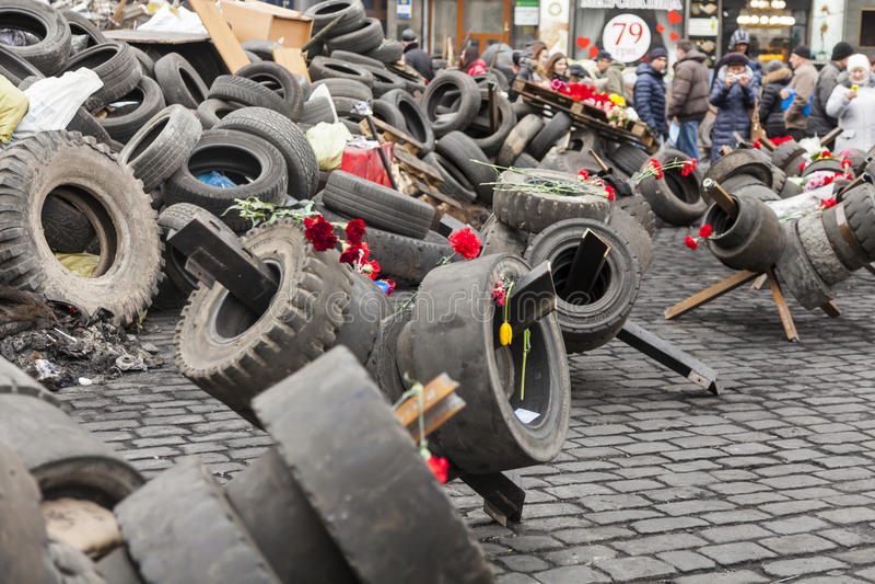Maidan Evromaydan 免版税库存照片