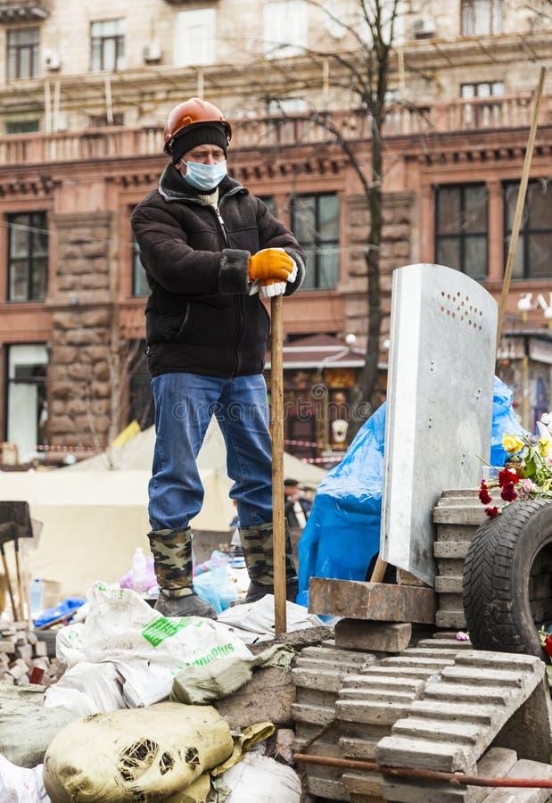Maidan Evromaydan fotografia de stock