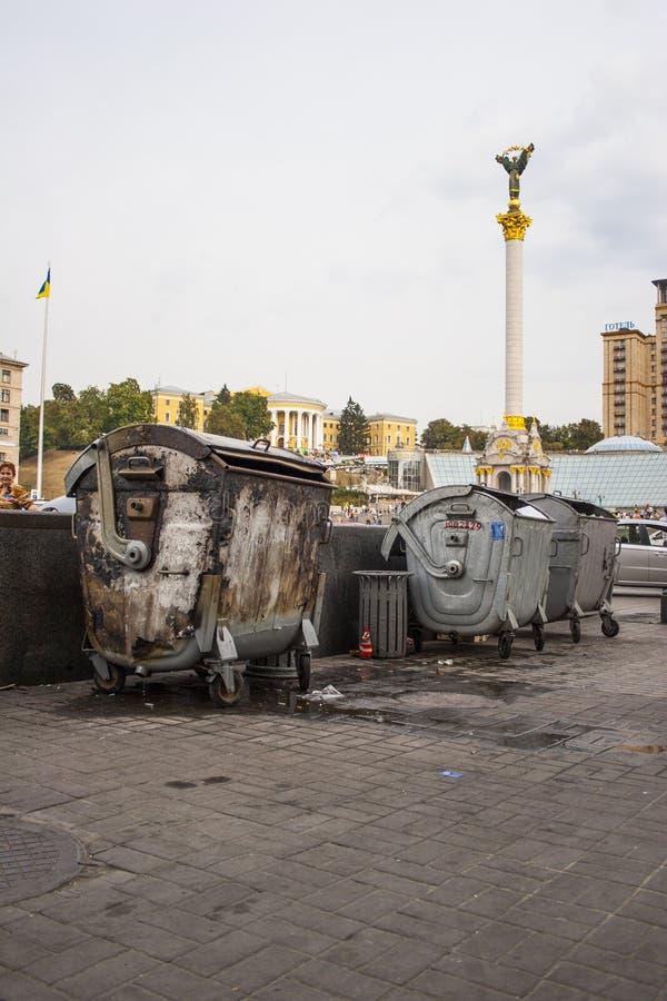Maidan i Kiev i 2009 royaltyfri fotografi