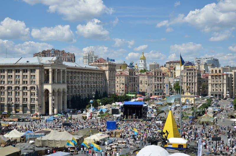 Maidan na capital ucraniana fotos de stock royalty free