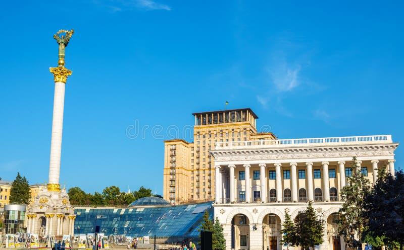 Maidan Nezalezhnosti (独立广场)在Kyiv 库存图片
