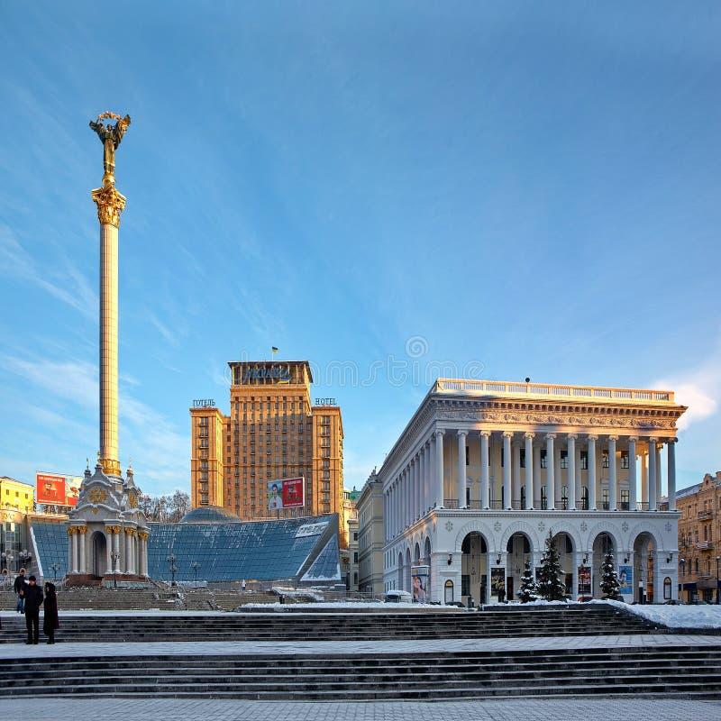 Maidan Nezalezhnosti royalty-vrije stock foto's