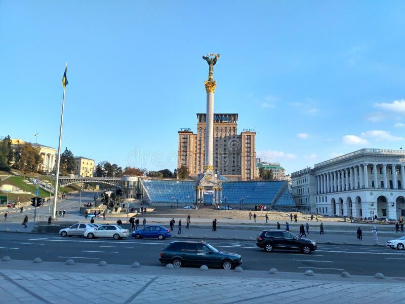 Maidan Nezalezhnosti Kiev fotos de archivo