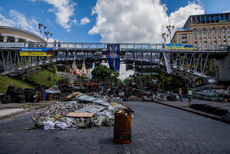 Maidan Nezalezhnosti royalty free stock photos