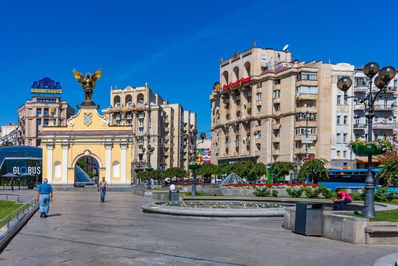 Maidan Platz Kiew Ukraine Landmark stockbild
