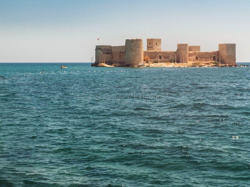 Maiden`s Castle, also known as Deniz kalesi also known as Kizkalesi. Mersin Province, Turkey.  royalty free stock photo