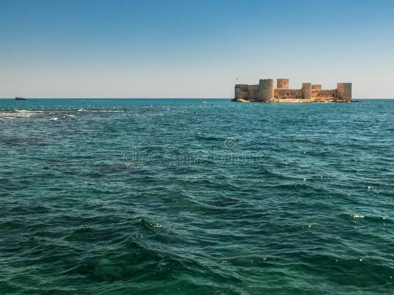 Maiden`s Castle, also known as Deniz kalesi also known as Kizkalesi. Mersin Province, Turkey.  royalty free stock photography