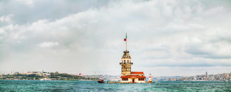 Maiden's island in Istanbul, Turkey royalty free stock photo