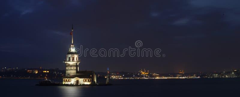Maiden& x27; s Torenpanorama, Istanboel royalty-vrije stock foto