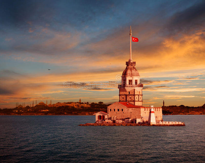 Download Maiden's Tower stock image. Image of famous, tower, medieval - 28794523