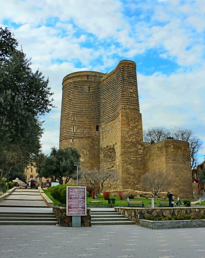 Maiden`s Tower in BAKU stock photo