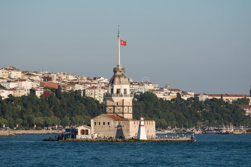 Maiden`s Tower. Daylight view of Maiden`s Tower Istanbul, Turkey stock photo