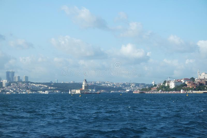 Maiden`s Tower, Istanbul, a famous symbol of Turkey. royalty free stock photography