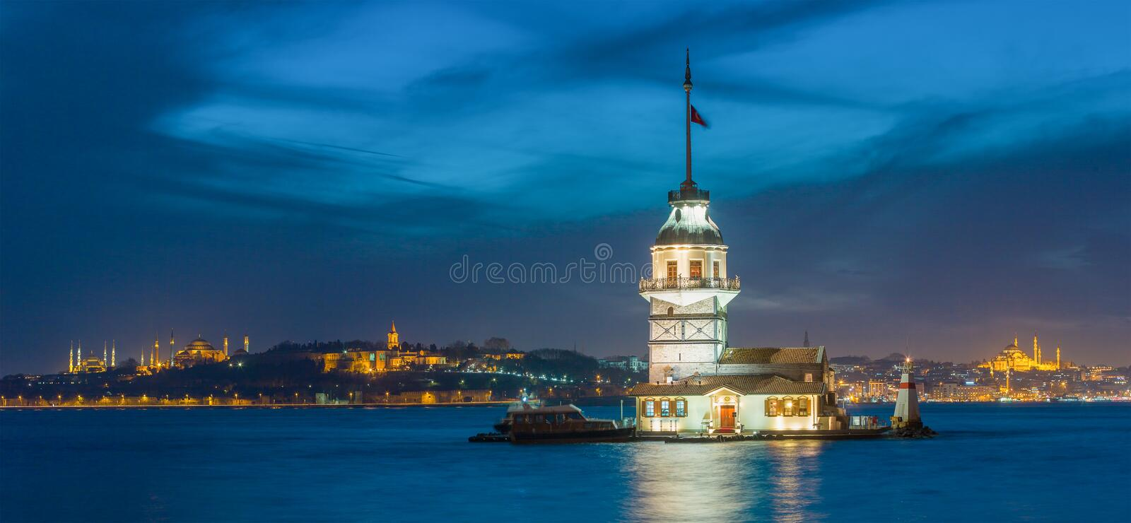 Maiden's Tower in Istanbul royalty free stock image