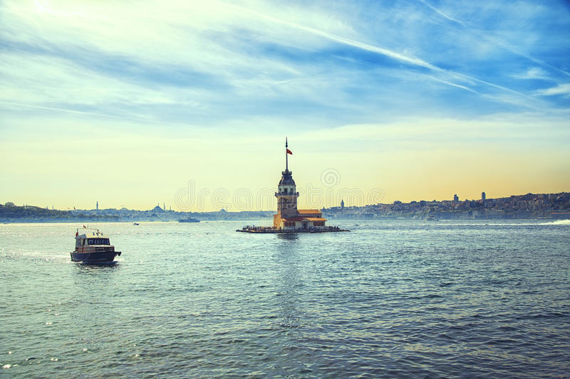 Maiden`s Tower in istanbul stock photography