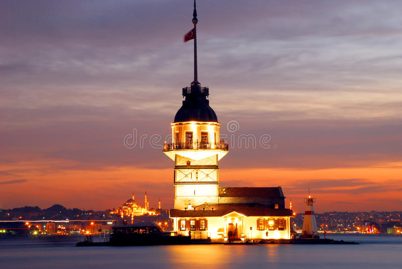Download Maiden's Tower stock image. Image of oriental, navigation - 35139975