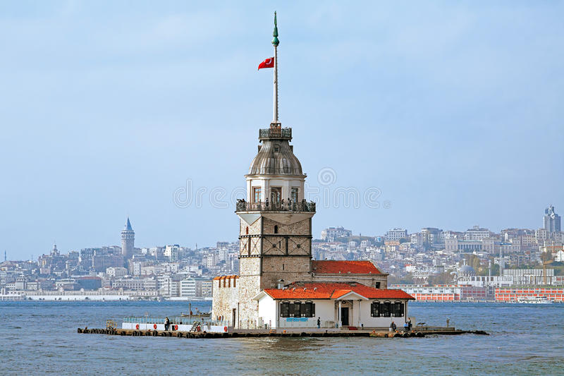 Maiden's Tower in Istanbul, Turkey. Maiden's Tower (Leander's Tower) in Istanbul, Turkey royalty free stock image