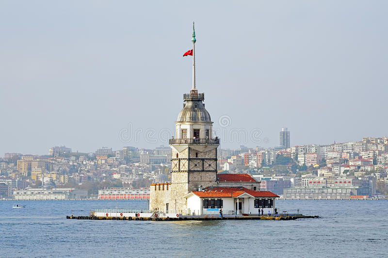 Maiden's Tower in Istanbul, Turkey. Maiden's Tower (Leander's Tower) in Istanbul, Turkey stock images