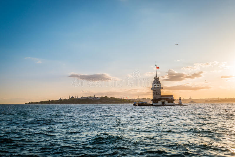 Maiden's tower in Istanbul, Turkey royalty free stock images