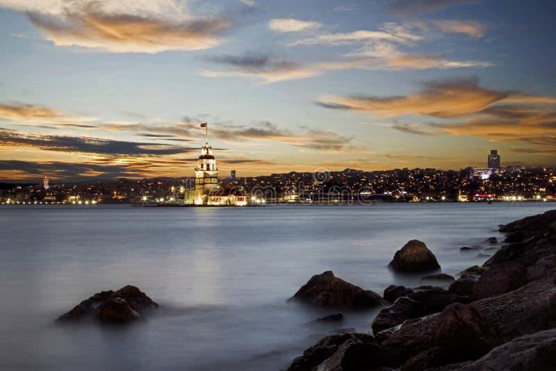 Maiden`s Tower. At sunset - Istanbul / Turkey stock photos