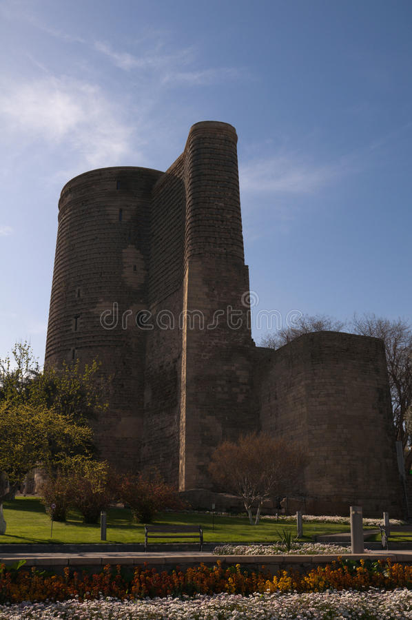 Download Maiden Tower stock image. Image of fortress, azerbaijan - 19413773