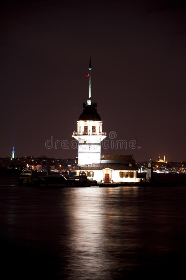Maiden Tower. The Maiden Tower which is in the middle of the Bosphorus royalty free stock image