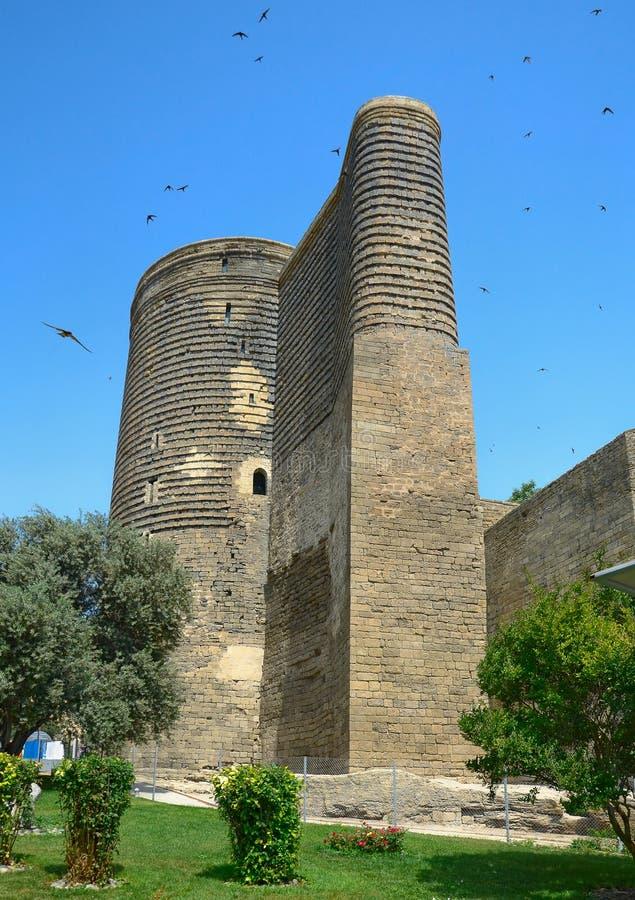 Maiden Tower. In the Old City. Baku. Azerbaijan stock image