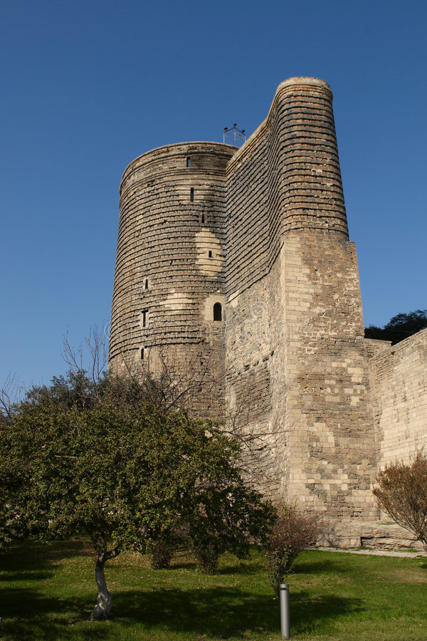 The Maiden Tower stock photography