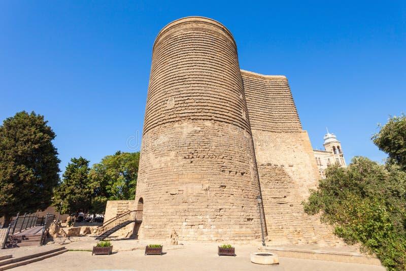 Maiden Tower in Baku royalty free stock photo
