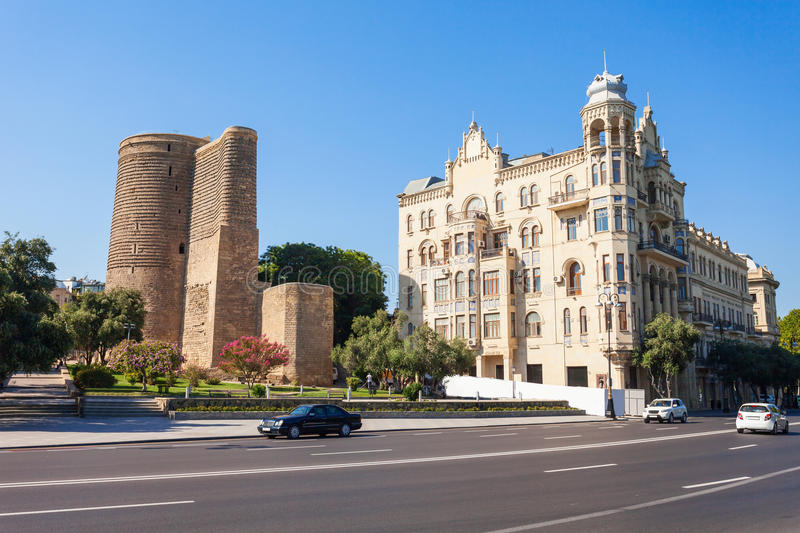 Maiden Tower in Baku. The Maiden Tower also known as Giz Galasi, located in the Old City in Baku, Azerbaijan. Maiden Tower was built in the 12th century as part royalty free stock images