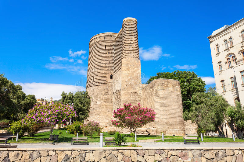 Maiden Tower in Baku. The Maiden Tower also known as Giz Galasi, located in the Old City in Baku, Azerbaijan. Maiden Tower was built in the 12th century as part royalty free stock image