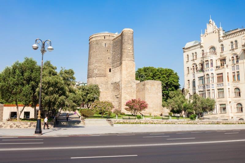 Maiden Tower in Baku royalty free stock photos