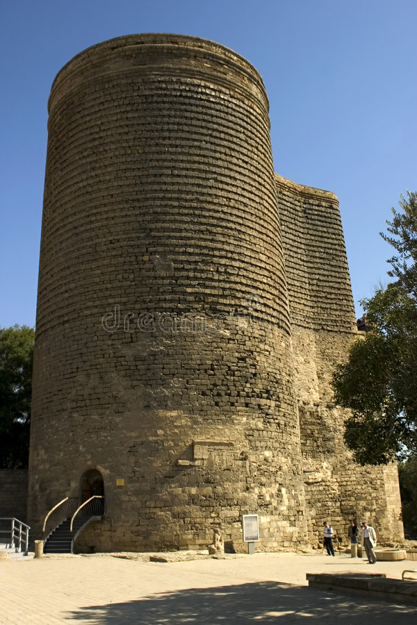 Maiden Tower. Baku, Azerbaijan. The Maiden Tower was contructed in the 12th century royalty free stock photo